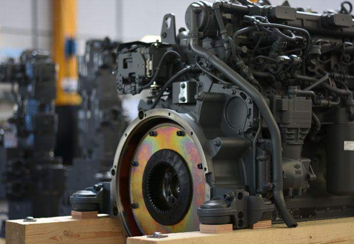 Hydraulic pump set build to diesel. We not only engineer your hydraulic or electrical drive problem, we also build it.